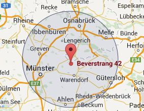 Map of Beverstrang 42, 48231 Warendorf